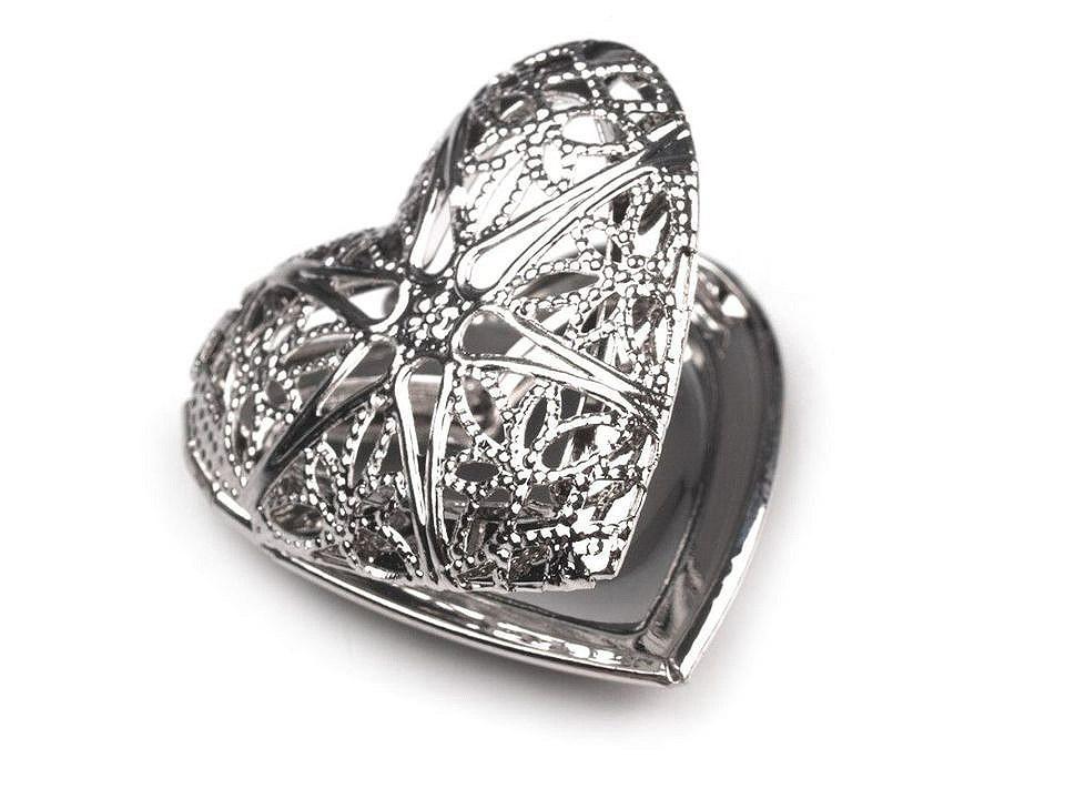 Medailonek srdce 26x26 mm otevírací