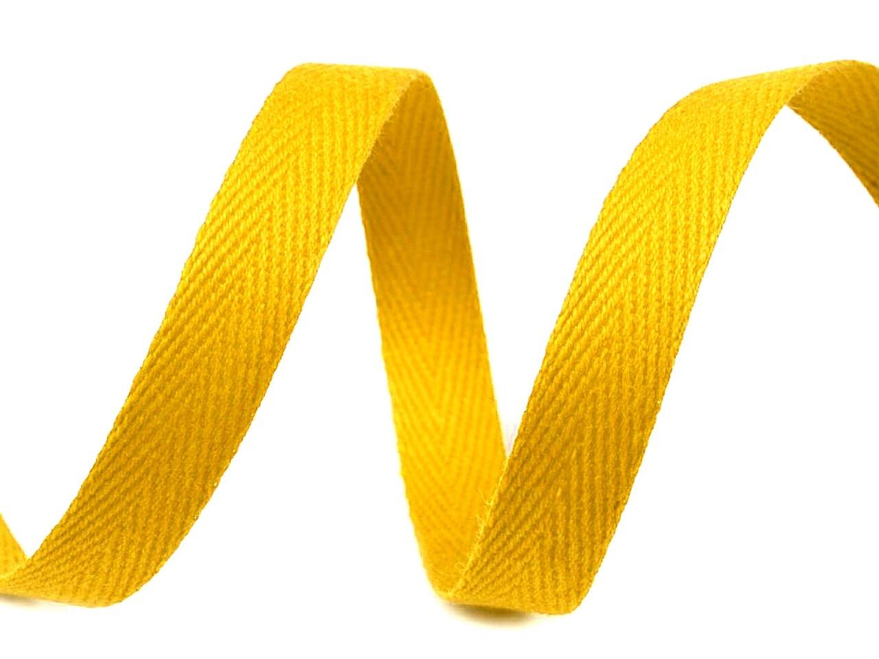 Keprovka - tkaloun šíře 12 mm, barva 4202 žlutá tmavá