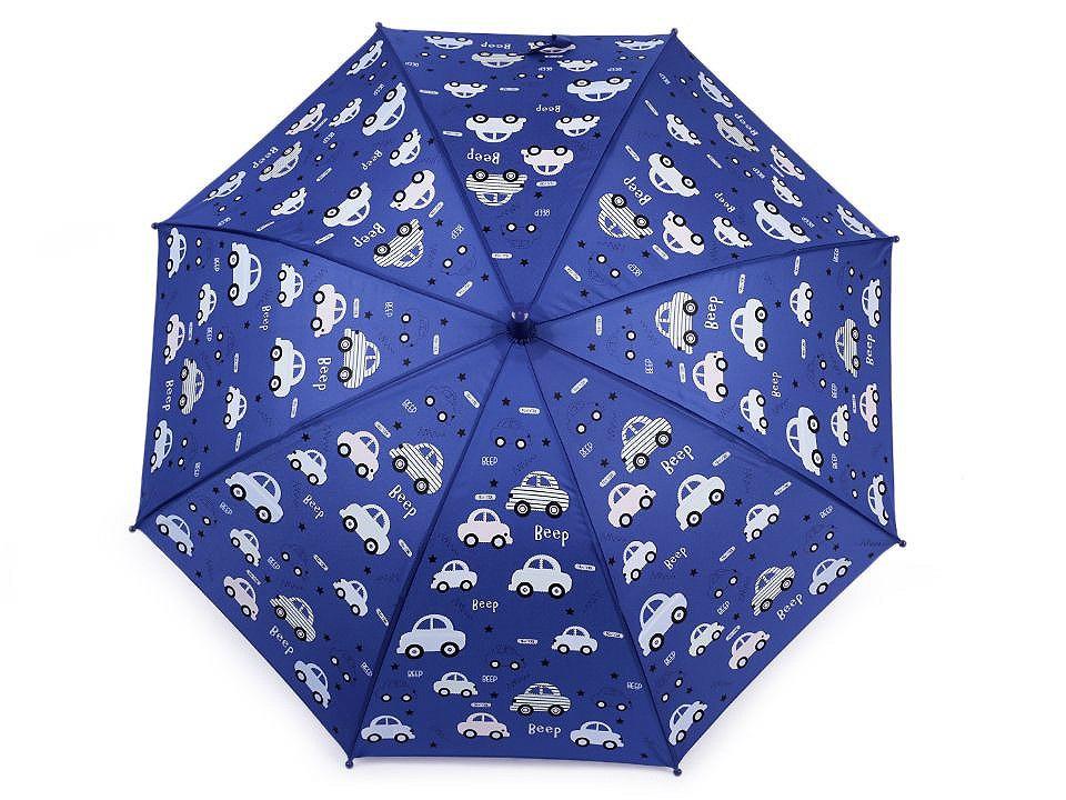 Dětský deštník kouzelný cupcakes, příšerky, auta, barva 5 modrá tmavá auto