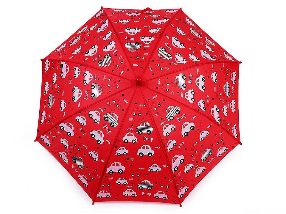 Dětský deštník kouzelný cupcakes, příšerky, auta, barva 6 červená auto