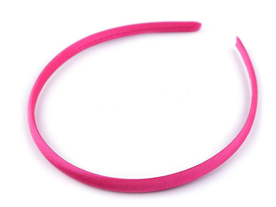 Saténová čelenka do vlasů, barva 22 pink