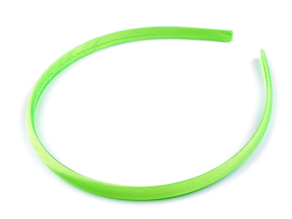 Saténová čelenka do vlasů, barva 16 zelená neon