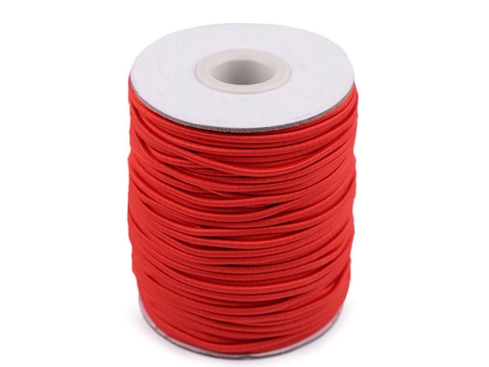 Kulatá pruženka Ø2 mm, barva 53 červená sv.