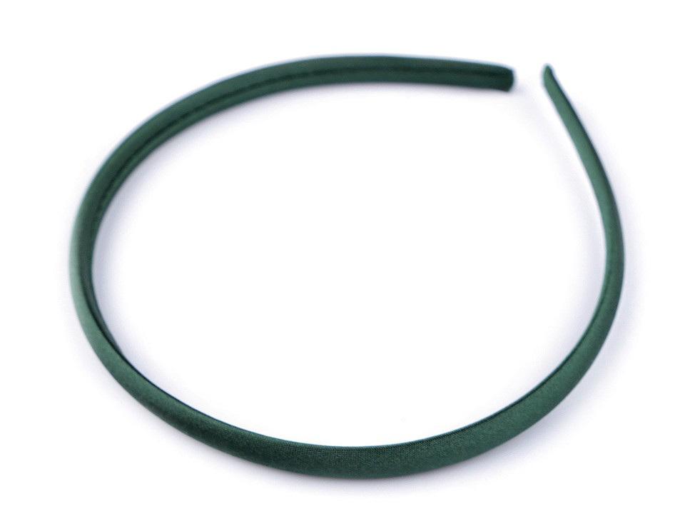 Saténová čelenka do vlasů, barva 21 zelená tmavá