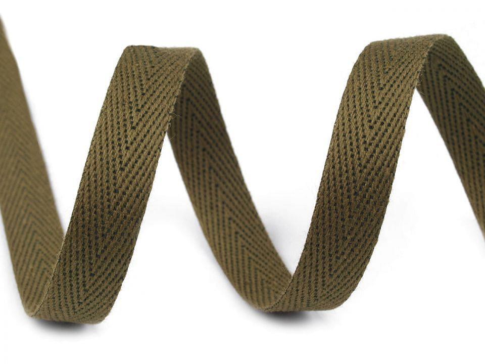 Keprovka - tkaloun šíře 12 mm, barva 4802 zelená olivová