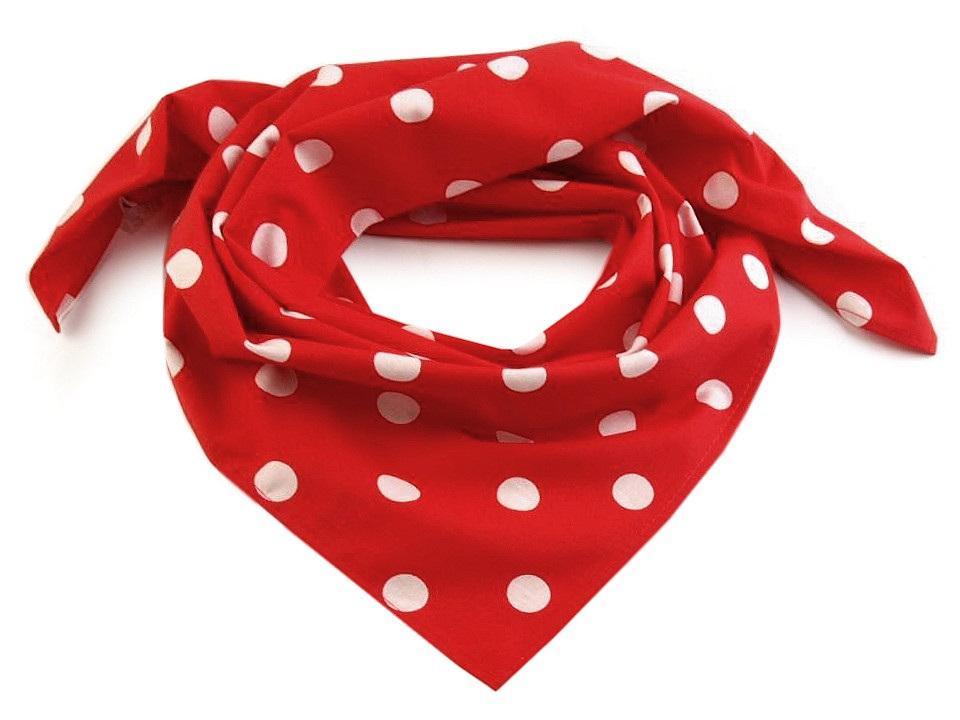 Bavlněný šátek s puntíky 65x65 cm