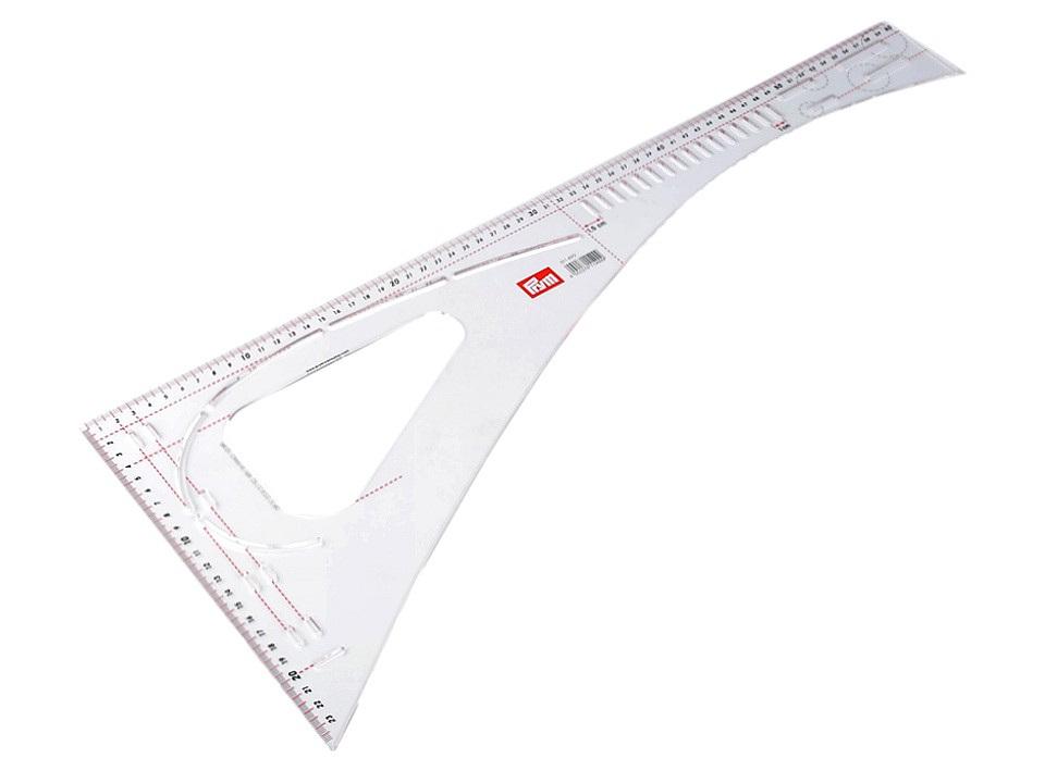 Krejčovský příložník / pravítko Prym délka 60 cm, barva transparent