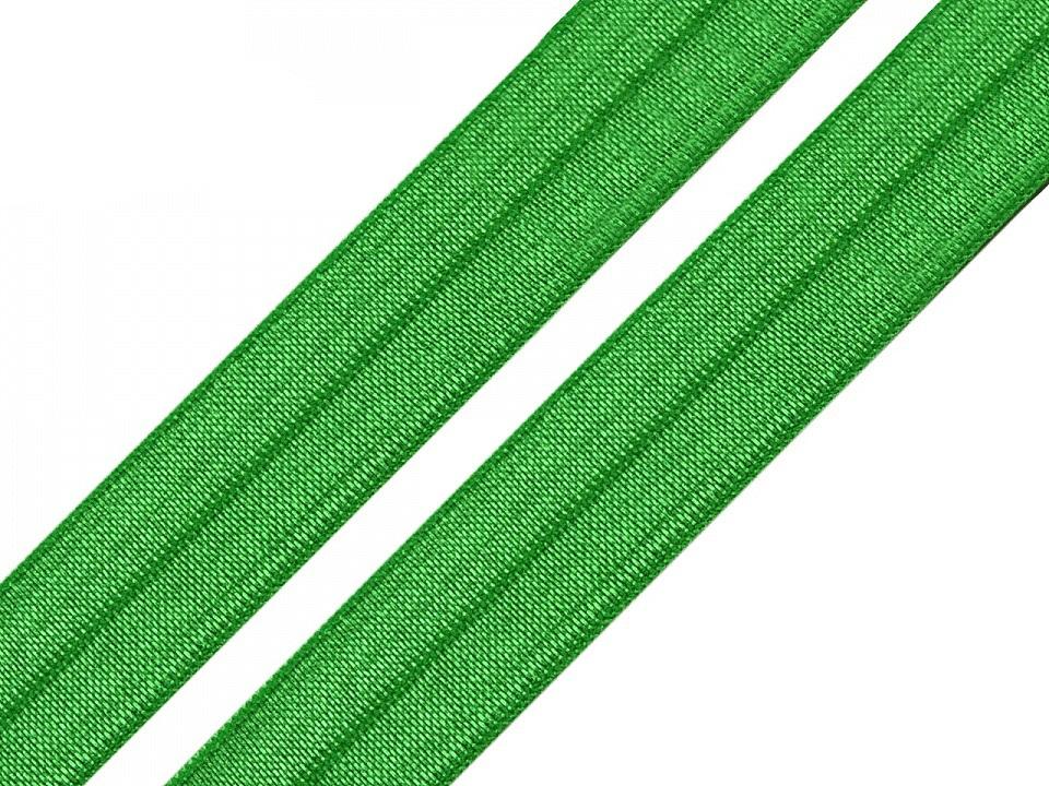 Lemovací pruženka půlená šíře 20 mm, barva 28 Classic Green