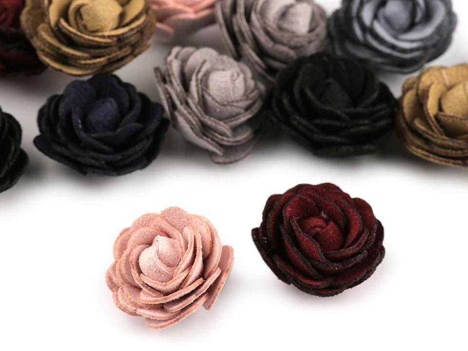 Květ růže Ø20 mm eko kůže, barva mix variant