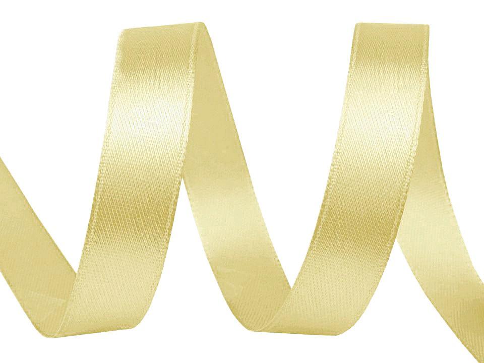 Atlasová stuha šíře 10 mm, barva 85 zlatá sv.