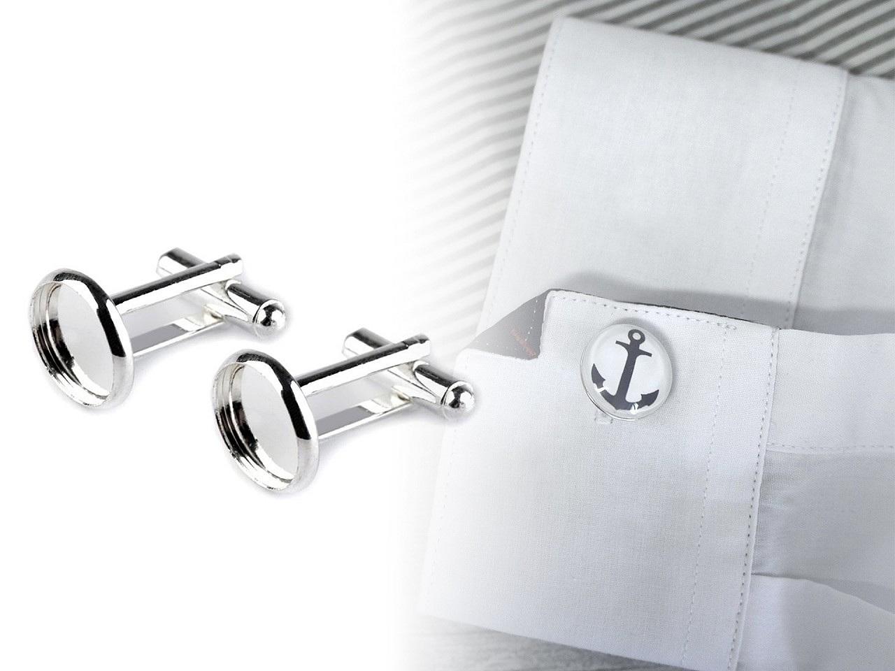 Manžetové knoflíky s lůžkem Ø14 mm polotovar
