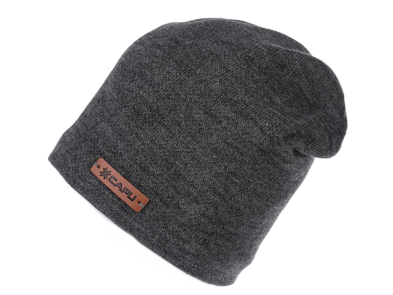 Zimní čepice unisex, barva 4 šedá