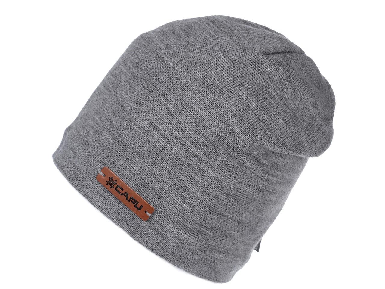 Zimní čepice unisex, barva 3 šedá sv.