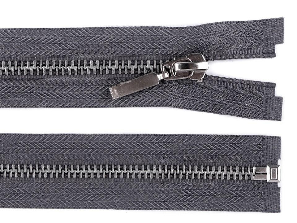 Kovový / mosazný zip šíře 6 mm délka 60 cm