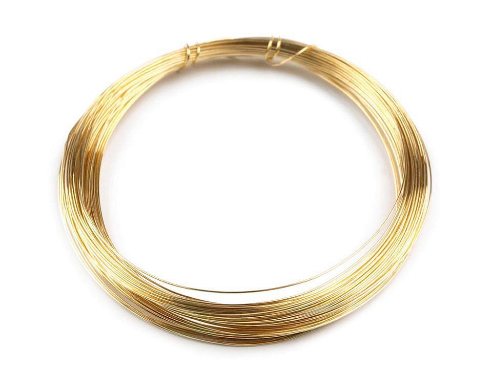 Drát Ø0,3 mm, barva 2 zlatá