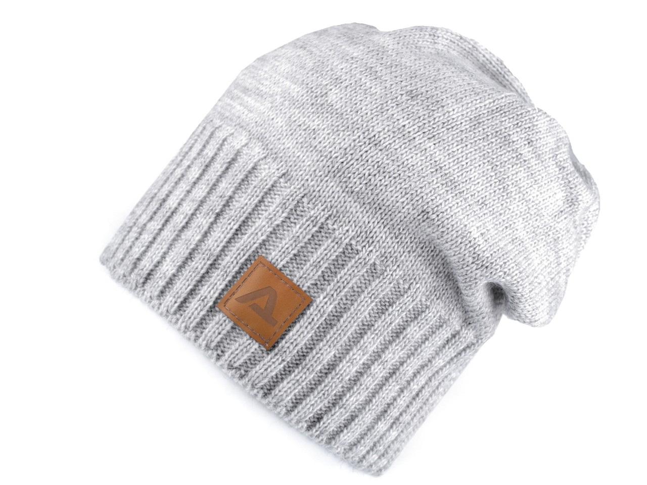 Zimní čepice unisex, barva 1 šedá nejsv.