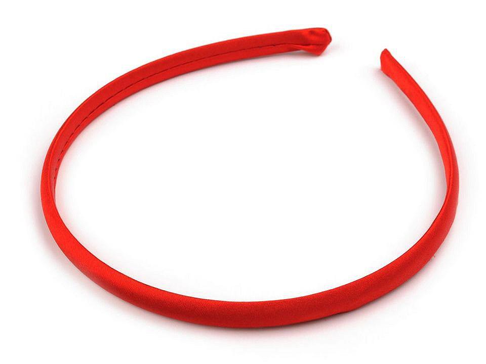 Saténová čelenka do vlasů, barva 7 červená
