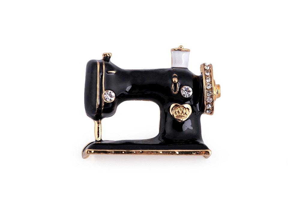 Brož šicí stroj, barva černá