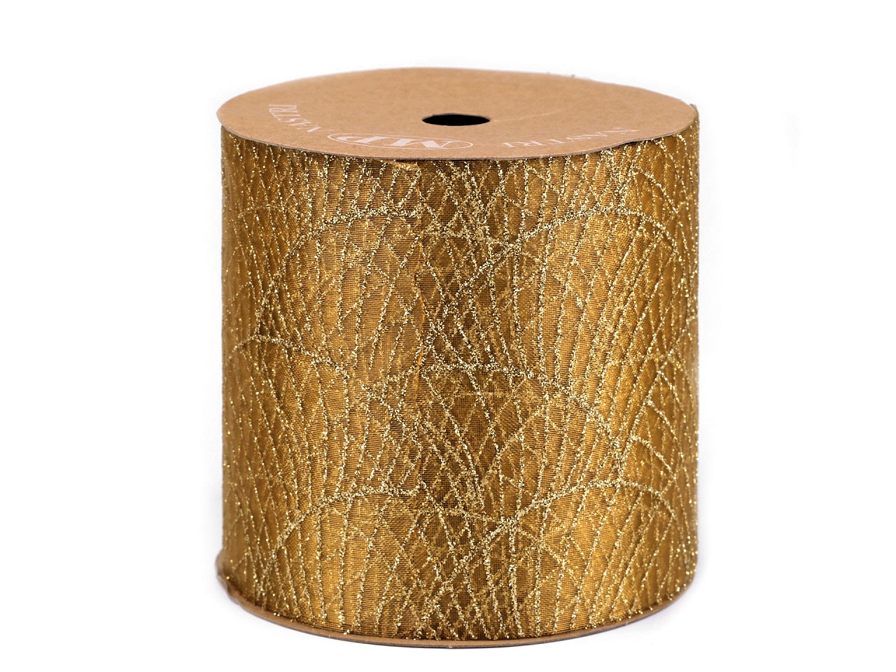 Ogranza / stuha s glitry šíře 10 cm, barva 3 zlatá