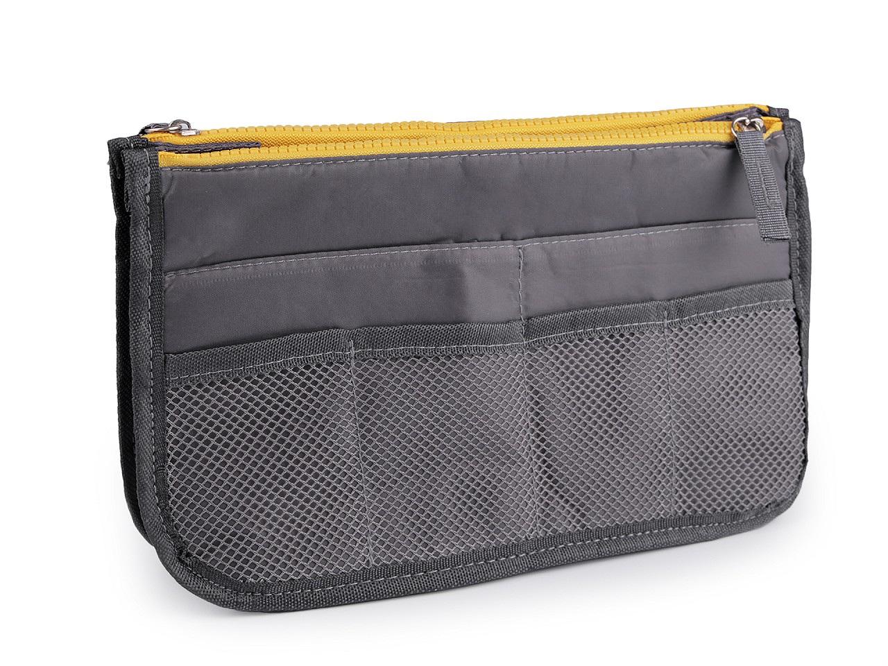 Organizér do kabelky 16x27 cm, barva 6 šedá