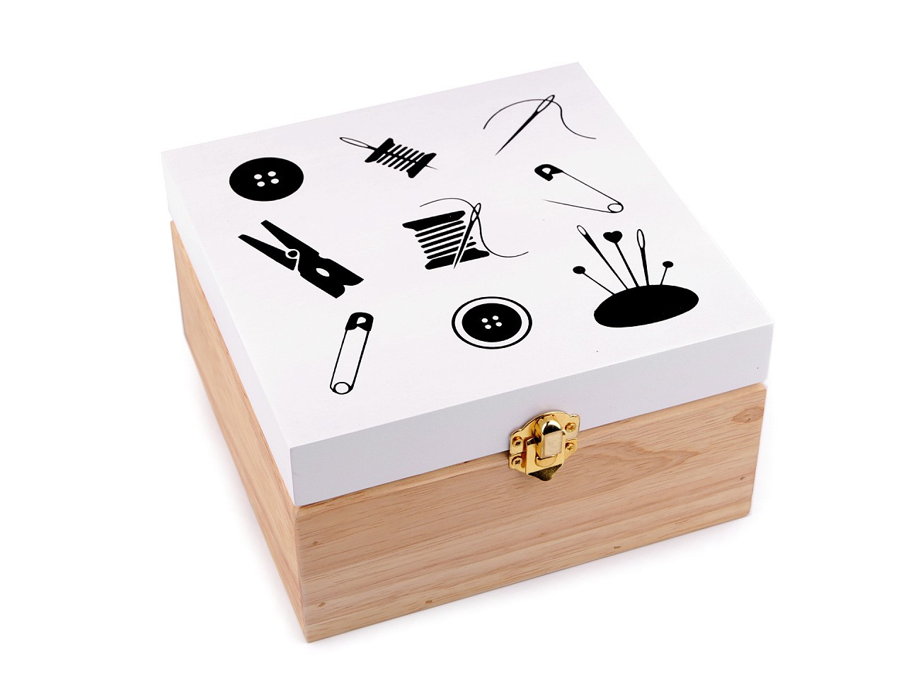 Kazeta / krabice na šití dřevěná