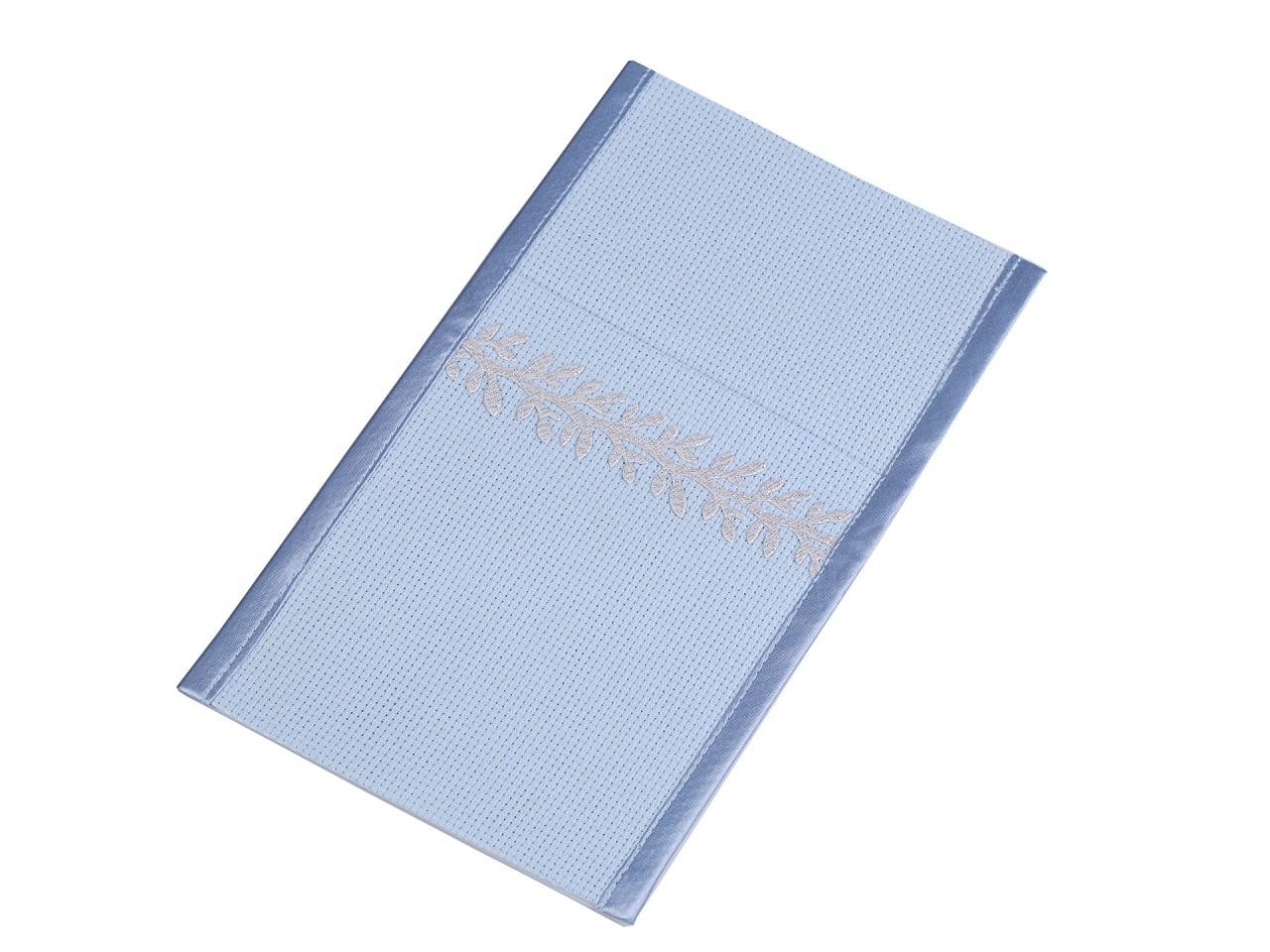 Kapsa na příbory s větvičkou 12x21 cm, barva 5 modrá pomněnková stříbrná