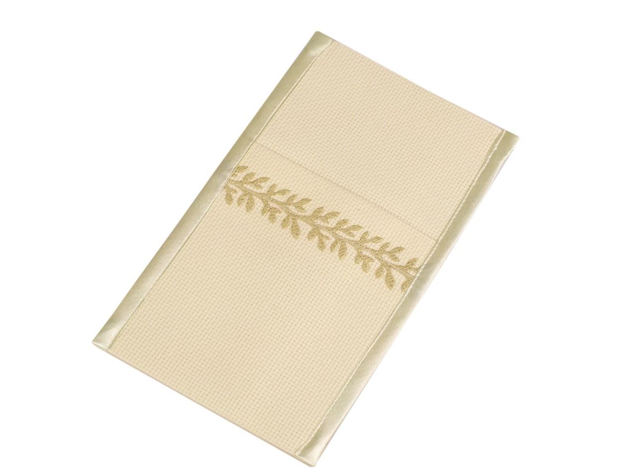 Kapsa na příbory s větvičkou 12x21 cm, barva 4 vanilková zlatá