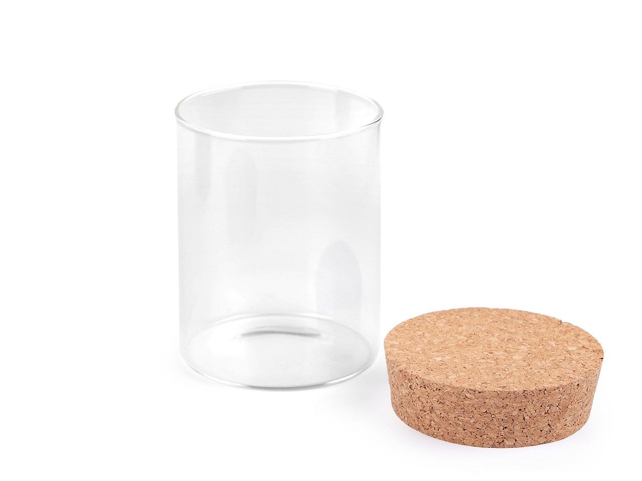 Skleněná lahvička s korkem 80x100 mm