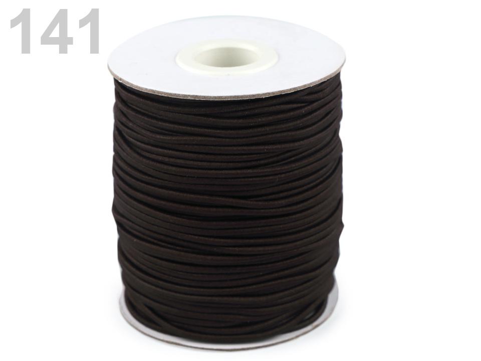 Kulatá pruženka Ø2 mm, barva 141 hnědá tm.