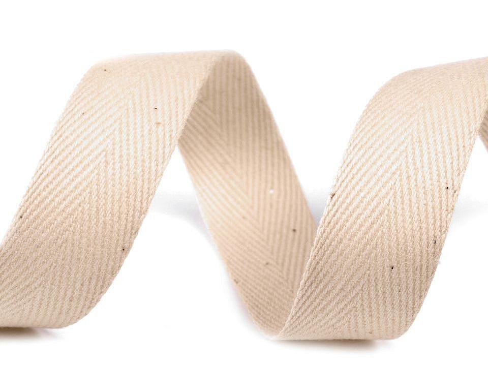 Keprovka - tkaloun šíře 25 mm, barva 1901 béžová sv.