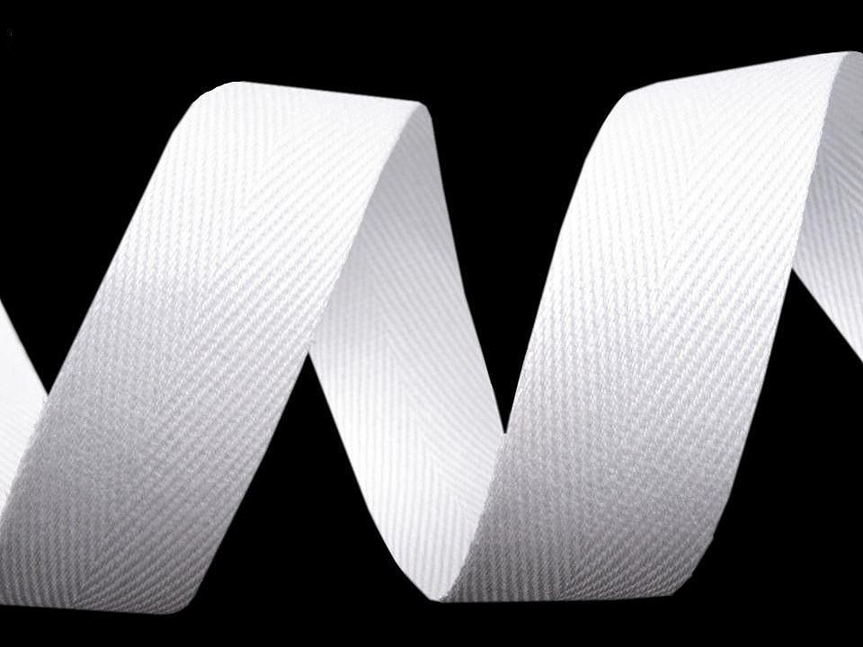 Keprovka - tkaloun šíře 25 mm, barva 1101 bílá