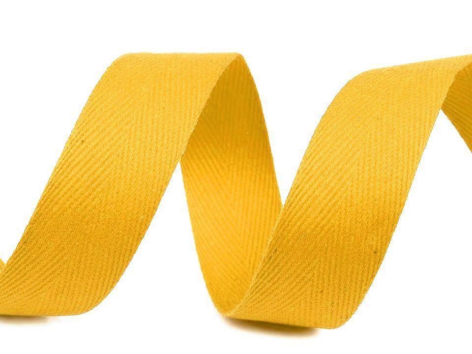 Keprovka - tkaloun šíře 25 mm, barva 4202 žlutá máslová