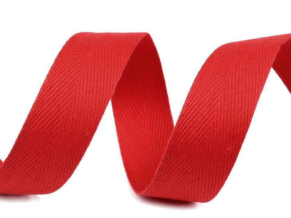 Keprovka - tkaloun šíře 25 mm, barva 7568 červená
