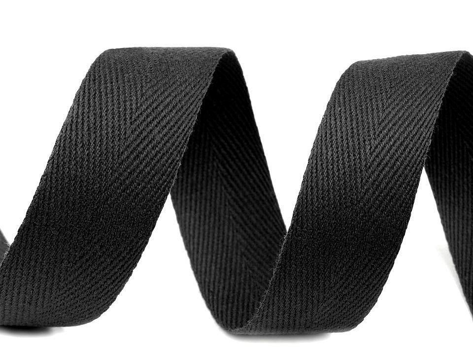 Keprovka - tkaloun šíře 25 mm, barva 7001 černá