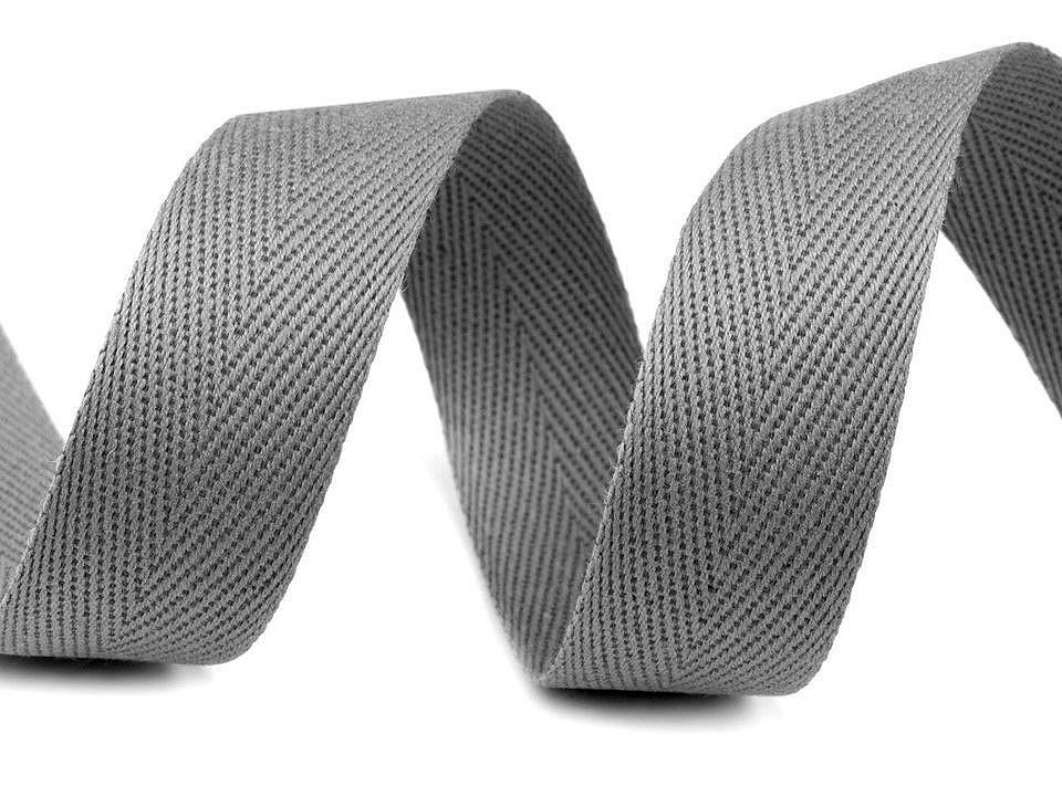 Keprovka - tkaloun šíře 25 mm, barva 4022 šedá paloma