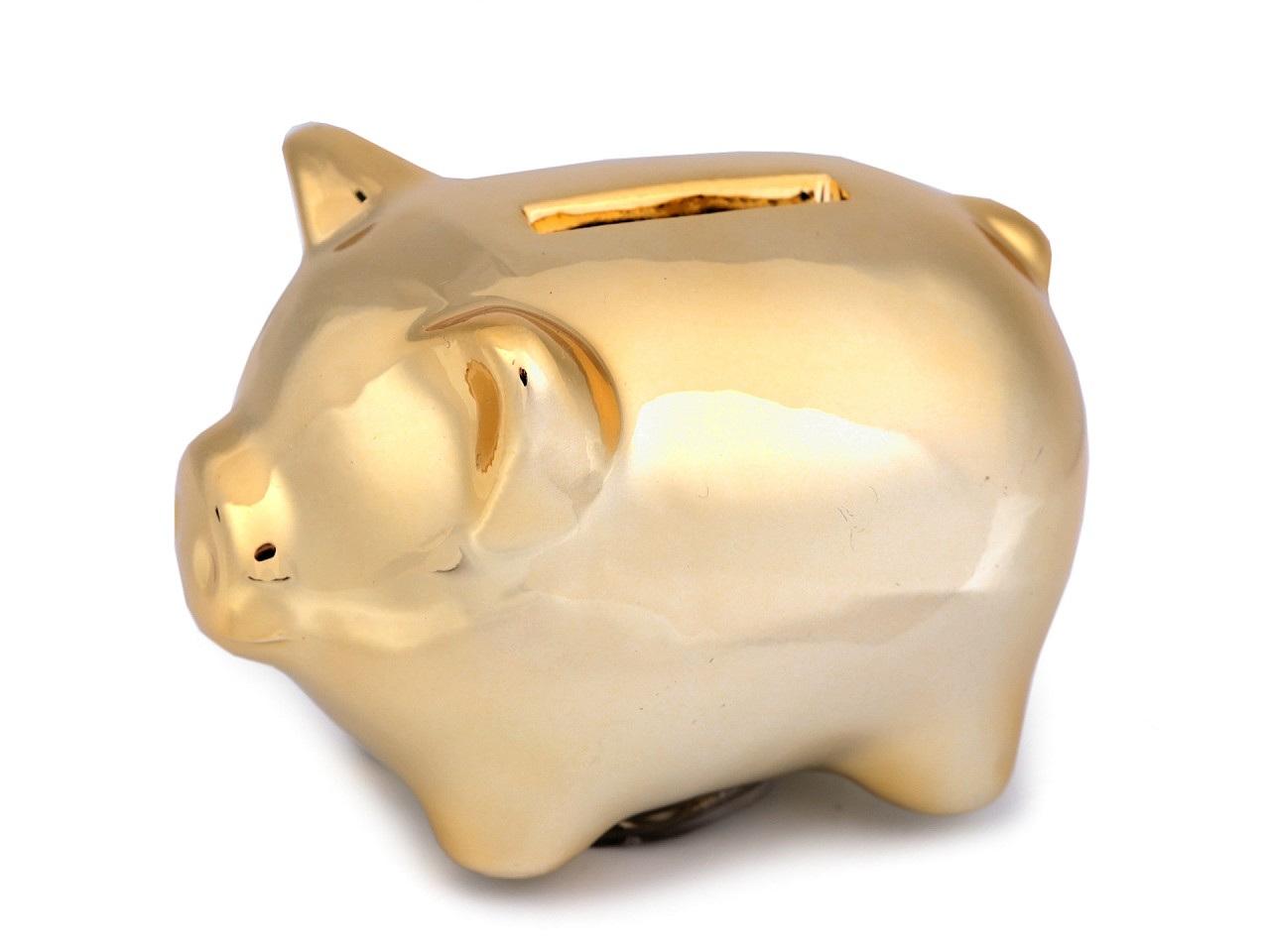 Zlaté prasátko pro štěstí / pokladnička