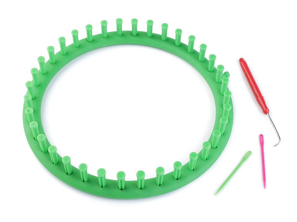 Sada na pletení kruh Ø24 cm, barva zelená irská
