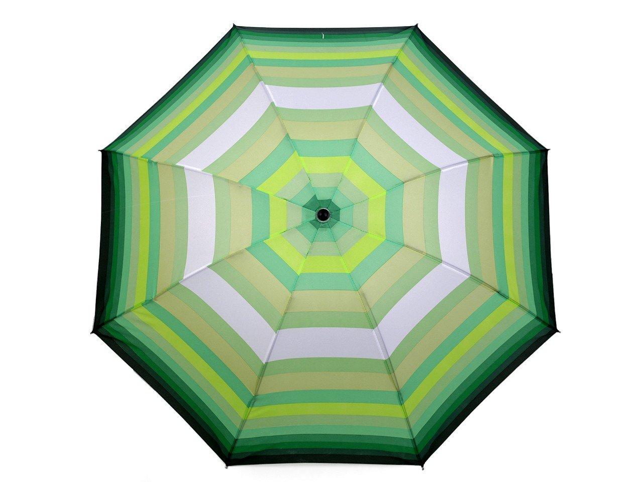 Dámský skládací deštník, barva 4 zelená sv.