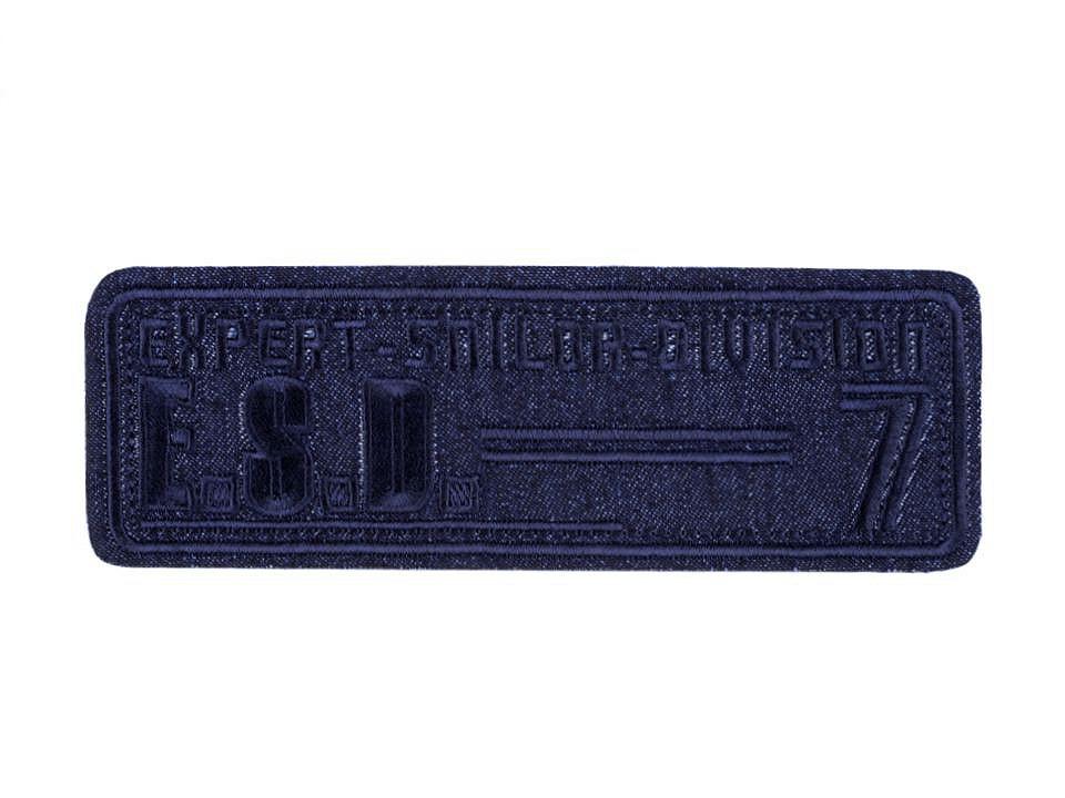 Nažehlovačka velká, barva 2 modrá tmavá
