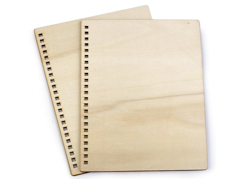 Dřevěné desky na výrobu zápisníku A5