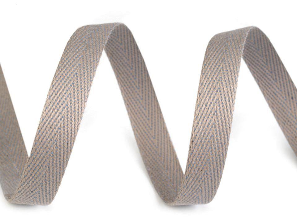 Keprovka - tkaloun šíře 10 mm, barva 1001 šedá sv.