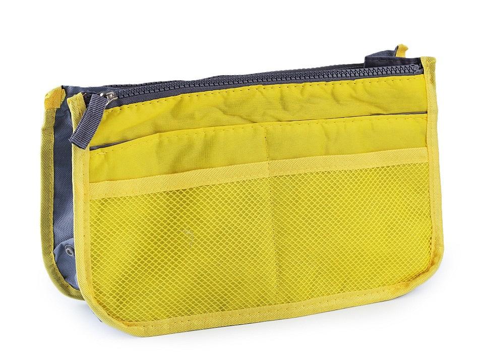 Organizér do kabelky 16x27 cm, barva 1 žlutá