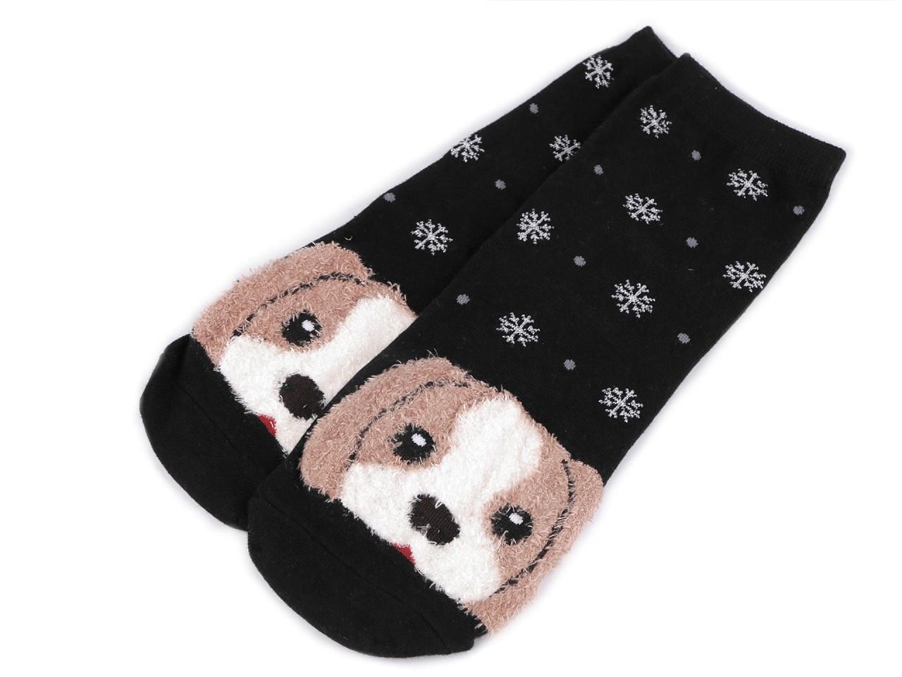 Dětské ponožky pes, barva 5 černá