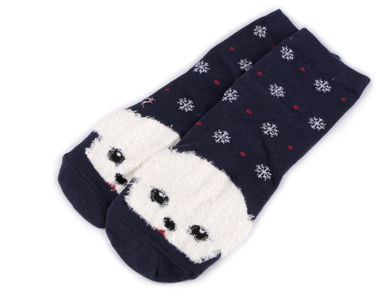 Dětské ponožky pes, barva 4 modrá tmavá