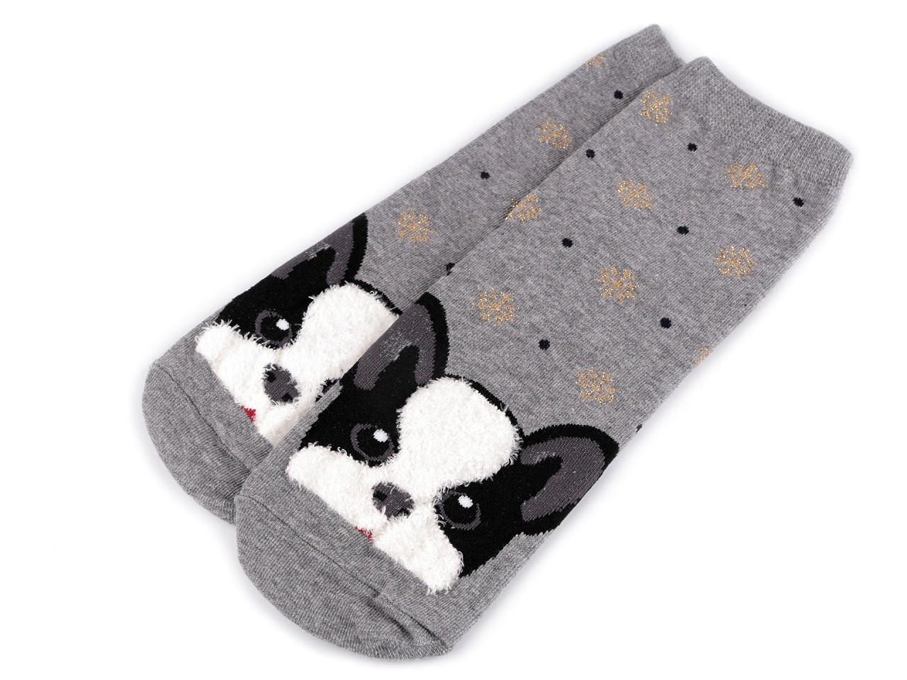 Dětské ponožky pes, barva 3 šedá