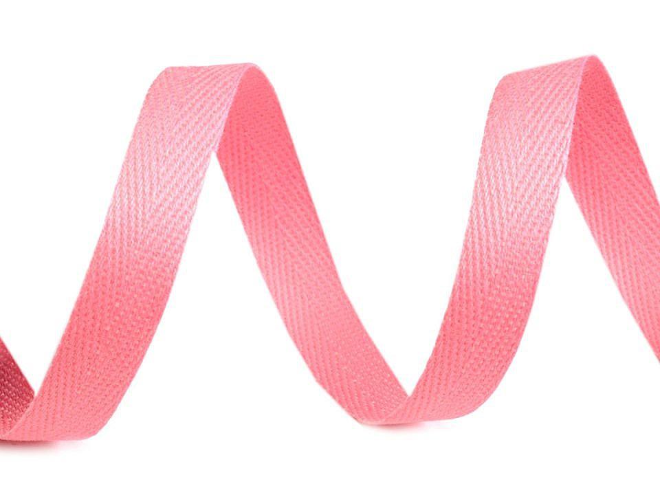 Keprovka - tkaloun šíře 10 mm, barva 1402 růžová sv.