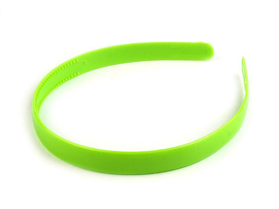 Plastová čelenka do vlasů, barva 9 zelená sv.