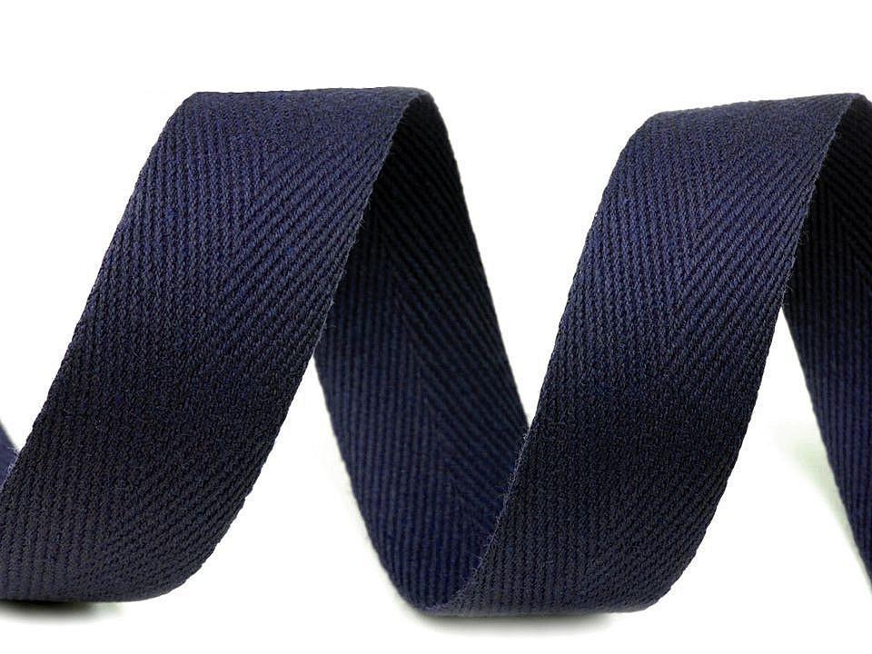 Keprovka - tkaloun šíře 25 mm, barva 7705 modrá pařížská