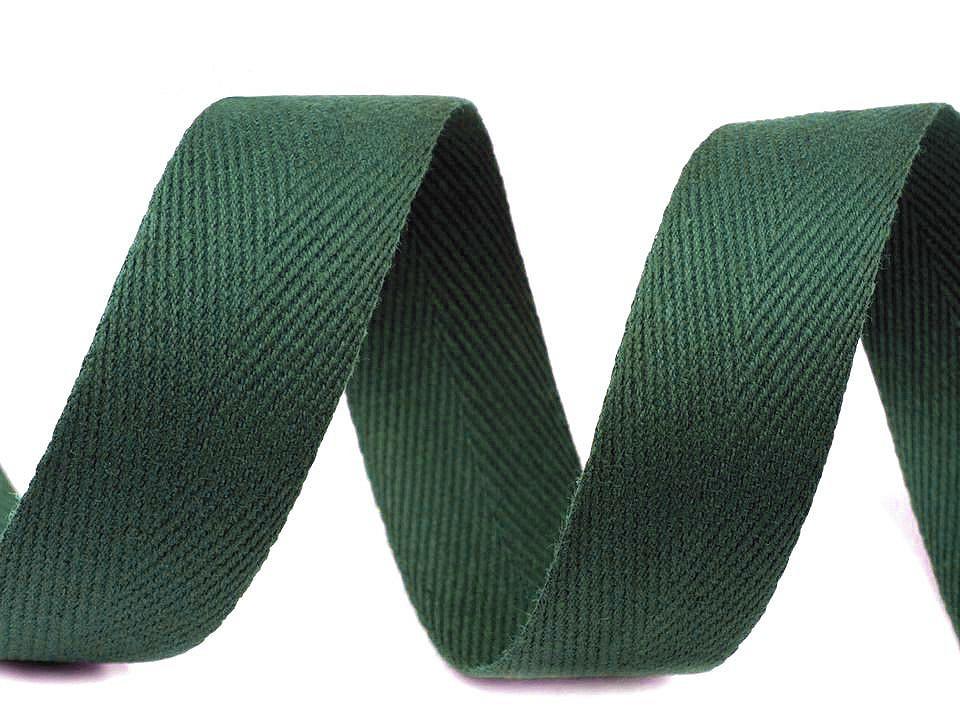 Keprovka - tkaloun šíře 25 mm, barva 7807 zelená jedle