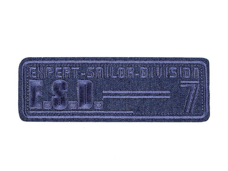 Nažehlovačka velká, barva 6 modrá jeans